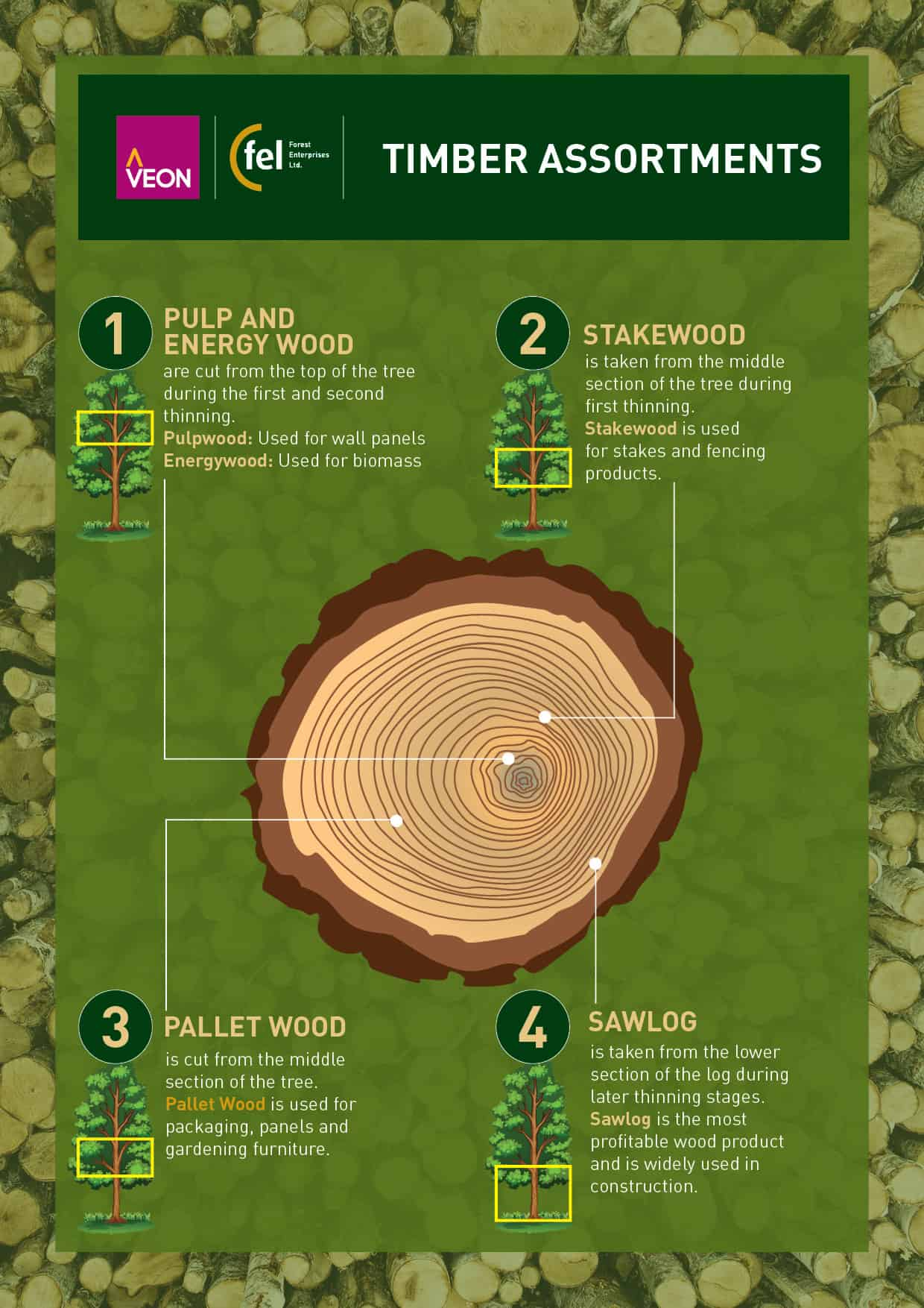 there are four wood product categories